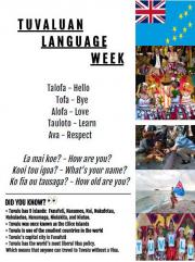 Celebrating Tuvaluan Language Week