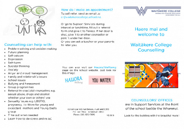 Waitakere College Counselling Pamphlet Web